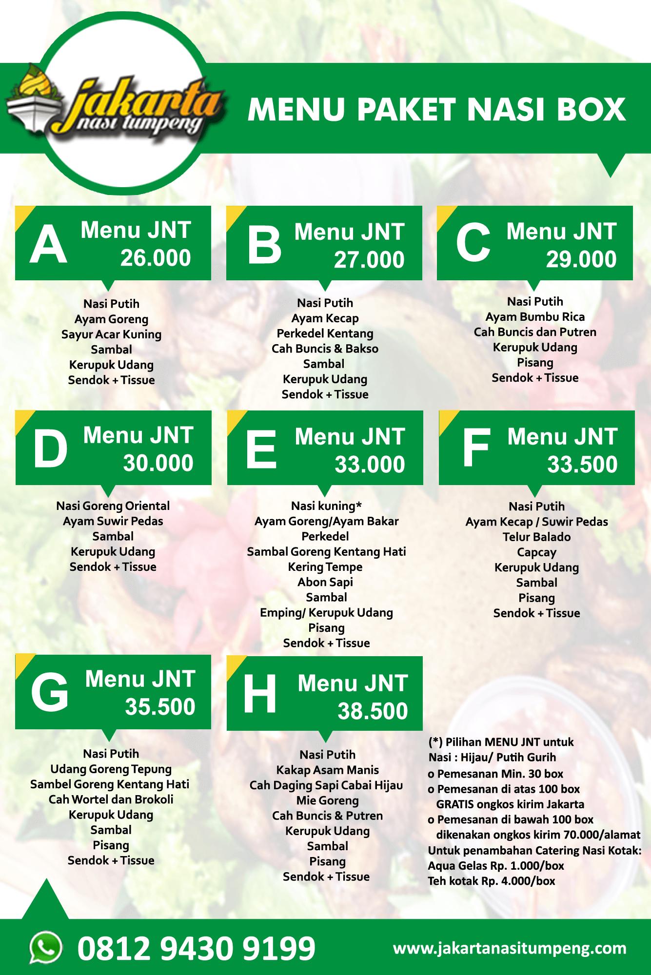 Menu Nasi Box JNT